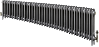 Eastgate Victoriana 3 Column 37 Section Cast Iron Radiator 450mm High x 2261mm Wide - Metallic Finish